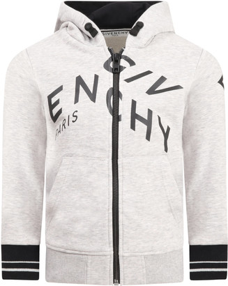 Givenchy Grey Sweatshirt For Kids With Logo