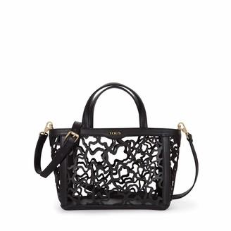 Tous Women's K Shock Handbag Black (Negro) 28x21x14 Centimeters (W x H x L) Talla Unica