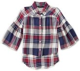 Takara Big Girls 7-16 Plaid Button-Down Shirt