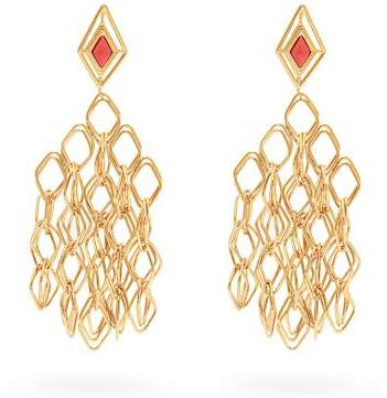 Aurelie Bidermann Filo Gold Plated Clip On Earrings - Womens - Gold
