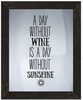 PTM Images Sunshine Wine Silk Screen Wood Framed Wall Art