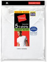 Hanes Men's 5Pack Crew Neck Tagless White Undershirts Crewneck T-Shirts, 5XL