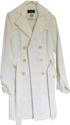 Patrizia Pepe White Cotton Trench Coat for Women