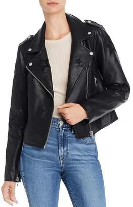 Blank NYC BLANKNYC Star Faux Leather Biker Jacket