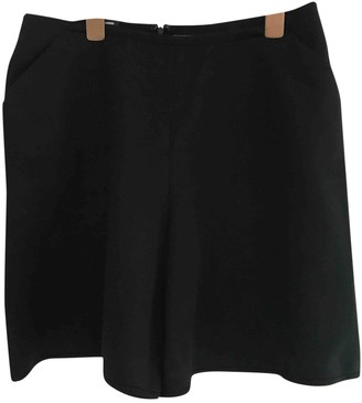 Jil Sander Black Viscose Shorts