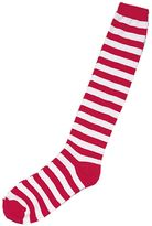 Adult Striped Red & White Costume Socks