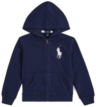 Ralph Lauren Kids Cotton Logo Zip-Up Hoodie (5-7 Years)