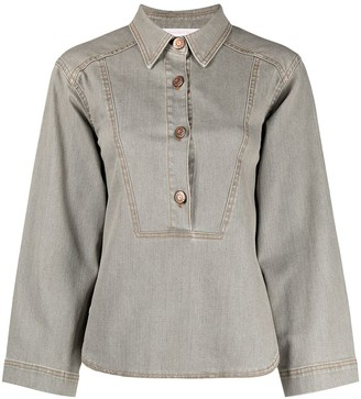 See by Chloe Buttoned-Up Denim Shirt