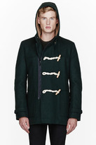 Band Of Outsiders Green wool Zippered Duffle Coat
