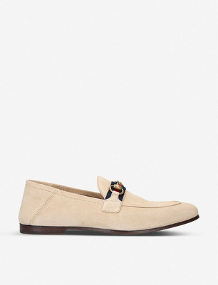 Gucci Brixton horsebit suede loafers