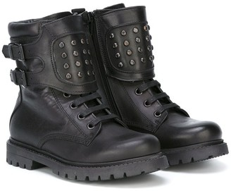 Diesel buckled panel boots