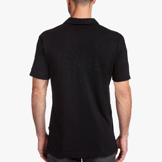James Perse Sueded Jersey Lotus Graphic Polo