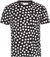 Ami Polka-dot print crew-neck cotton T-shirt