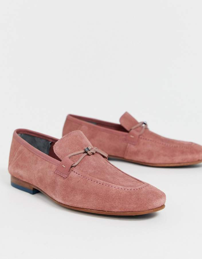 Ted Baker Siblac loafers in pink suede