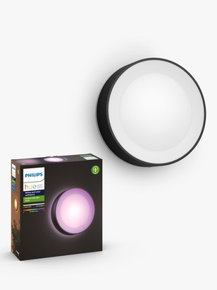 Philips Hue White and Colour Ambiance Daylo LED Outdoor Wall Light, Black