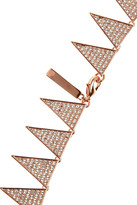 Eddie Borgo Rose gold-plated cubic zirconia necklace