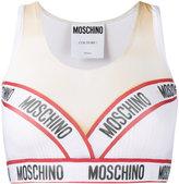 Moschino logo cropped vest top - women - Polyester/Spandex/Elastane - 38