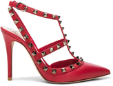 Valentino Rockstud Leather Ankle Strap Heels