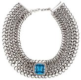 David Yurman Topaz & Diamond Chainmail Choker