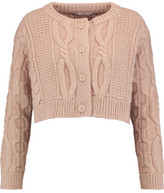 Christopher Kane Cropped Wool And Cashmere-Blend Cardigan