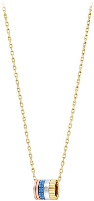 Boucheron 18kt yellow gold diamond Quatre mini ring pendant necklace