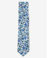 Express floral slim liberty fabric tie