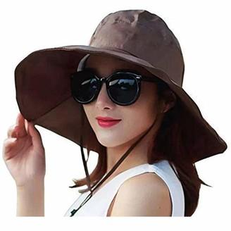 FENGDING Ladies Wide Brim Rain Hats UV Resistant Sun Hat