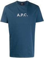 A.P.C. faded logo print crew neck T-shirt