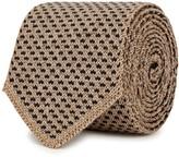 Lardini Geometric-knit Wool Tie