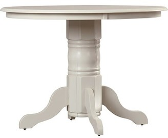 Wooden Importers Langwater Dining Table Color: Linen White