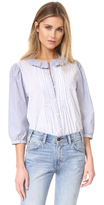 Rebecca Taylor Mixed Stripe Top
