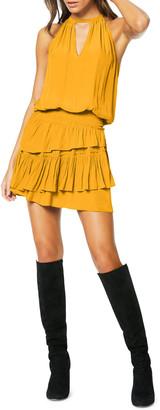 Ramy Brook Alexandra Sleeveless Ruffle Mini Dress