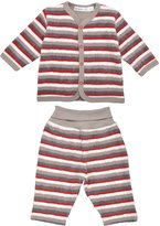 Under the Nile Flannel Cardigan & Rolled Waist Pant Set in , 3-6M