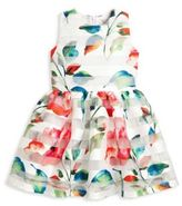 Halabaloo Toddler's & Little Girl's Floral Striped Dress