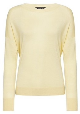 Dorothy Perkins Womens Lemon Crew Neck Jumper