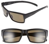 Smith Optics Women's 'Outlier' 56Mm Polarized Sunglasses - Matte Black/ Polarized Green