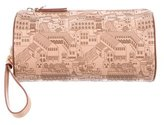 Etienne Aigner Etched Leather Wristlet