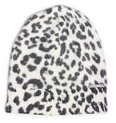 Michael Kors Leopard-Print Angora-Blend Hat