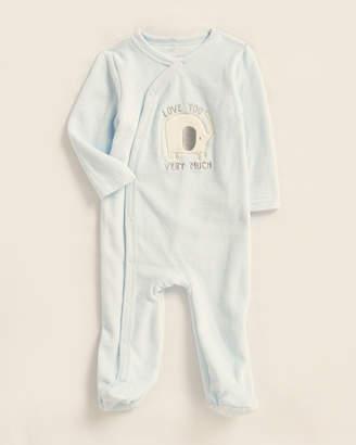 Baby Essentials Kyle & Deena (Newborn Boys) Blue Elephant Velour Footie