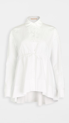Brock Collection Cotton Linen Drawstring Blouse