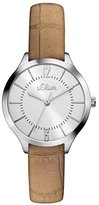 S'Oliver Women's Quartz Watch Analogue Display and Leather Strap SO-3122-LQ