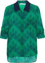 Diane von Furstenberg Lorelei Printed Silk-georgette Blouse - Green