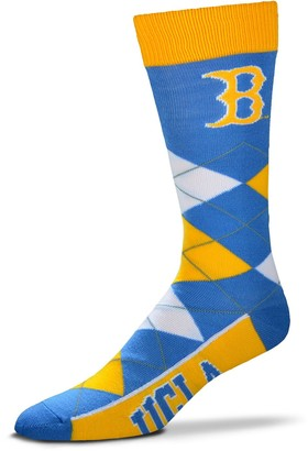 For Bare Feet Adult UCLA Bruins Argyle Line Up Crew Socks