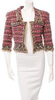 Oscar de la Renta Cropped Tweed Jacket w/ Tags