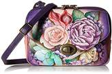 Anuschka Handpainted Painted Convertible Travel Organizer,Lush Lilac