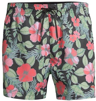 HUGO Hawaii Floral Swim Trunks