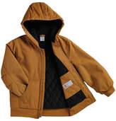 Carhartt Brown Duck Hooded Jacket - Boys
