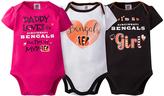 Gerber Cincinnati Bengals Pink Short-Sleeve Bodysuit Set - Infant