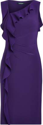 Ralph Lauren Ruffle-Trim Jersey Dress