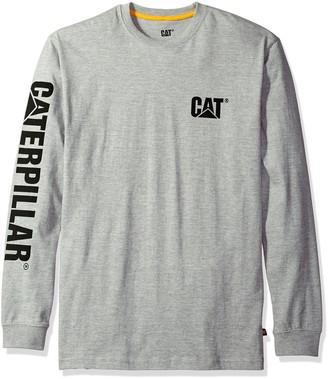 Caterpillar Men's Trademark Banner Long Sleeve Tee